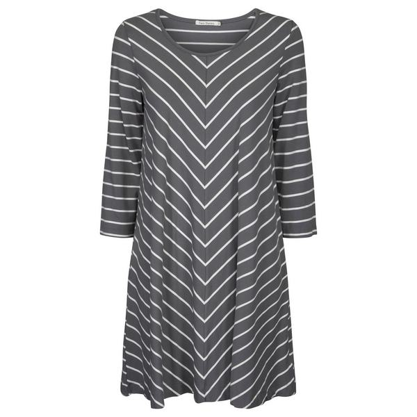 Two Danes Bryce Tunic Sage and off white stripes front