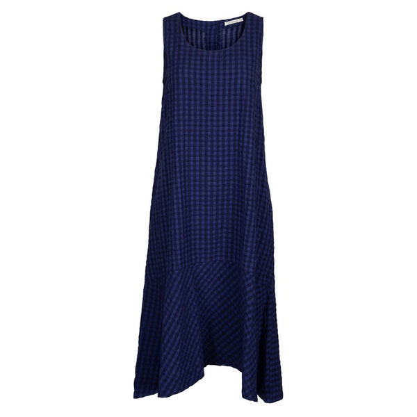 Two Danes Clothing Sienna Dress in Blue Check 33596-C377 front
