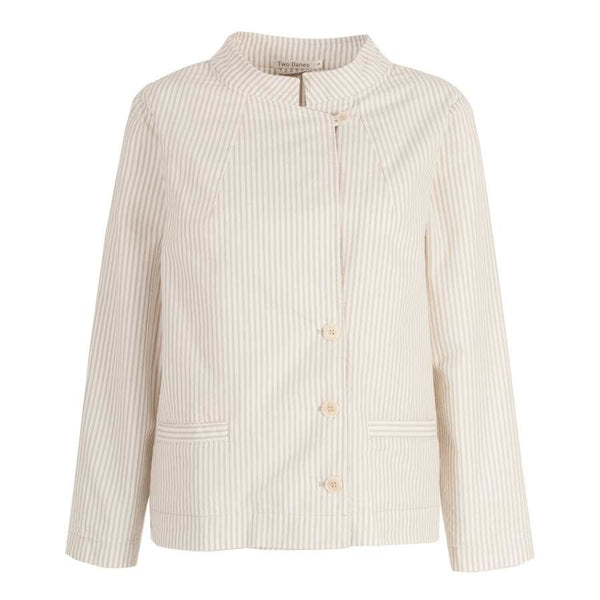 Two Danes Clothing Tami Jacket in Dove Comb Stripes 31525-C393 front