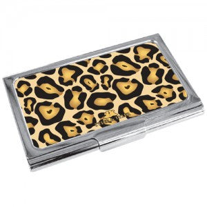 Tyler & Tyler Jaguar-print Business Card Holder