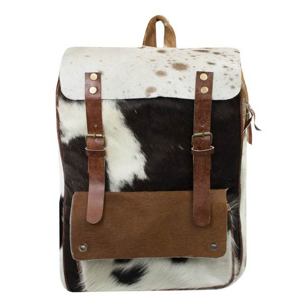 Vintage Style Cowhide Backpack Front