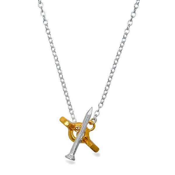 I Love a Lassie Jewellery Hard-Wear Silver / Yellow Gold Wing Nut Necklace