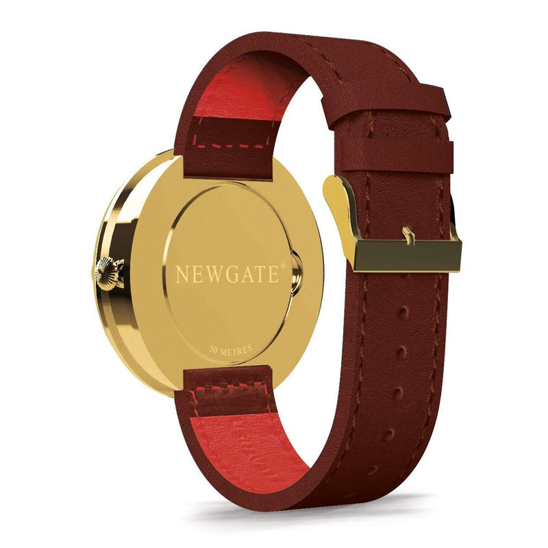 Newgate Watches - The Ship Watch - Brass Case, Brown Strap back