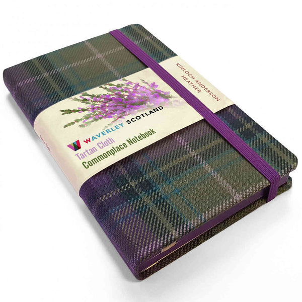 Waverley Scotland Tartan Cloth Notebook Heather