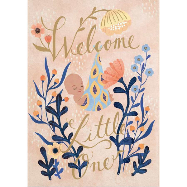 Welcome Little One New Baby Greetings Card GC2065N front