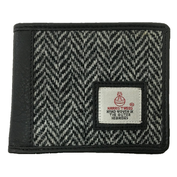 Bifold Wallet White Harris Tweed