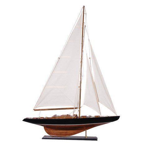 White Sailed Yacht Model