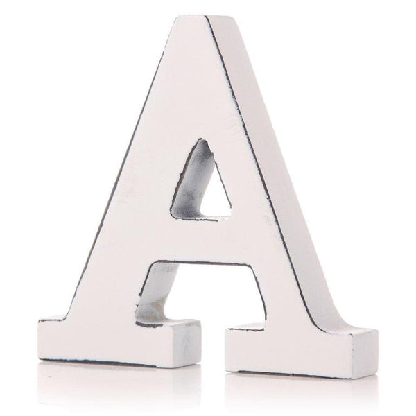 White Wooden Letter 11cm - A