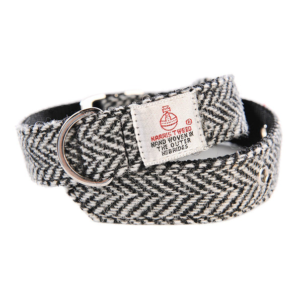 Dog Collar - White Tweed