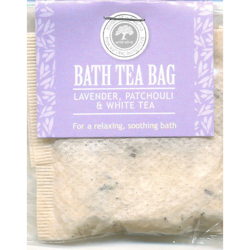 Wild Olive Lavender Patchouli & White Tea Bath Teabag