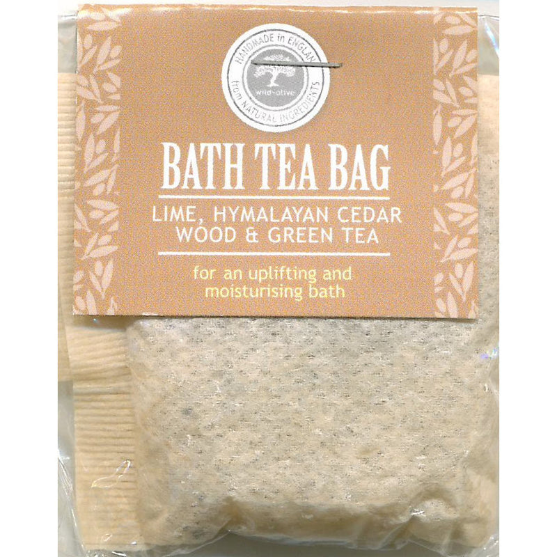 Wild Olive Lime Himalayan Cedar Wood & Green Tea Bath Teabag