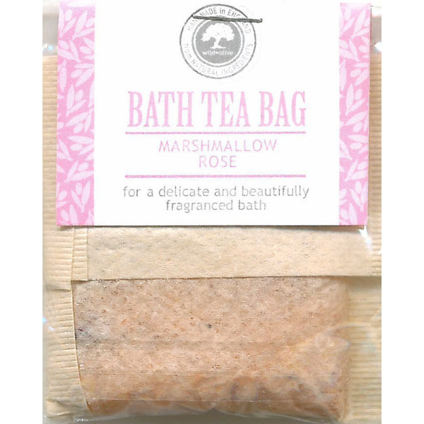 Wild Olive Marshmallow Rose Bath Teabag
