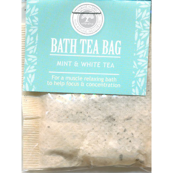 Wild Olive Mint and White Tea Bath Teabag