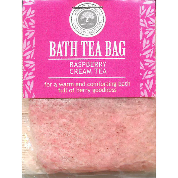 Wild Olive Raspberry Cream Tea Bath Teabag