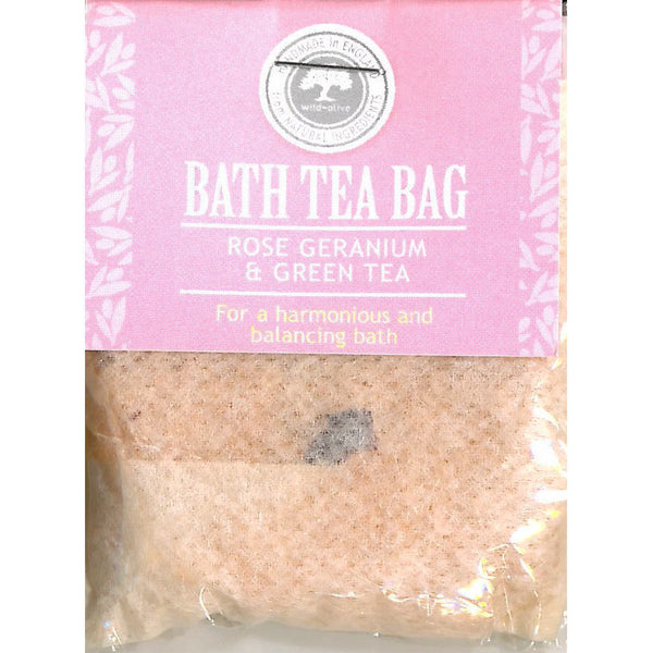 Wild Olive Rose Geranium & Green Tea Bath Teabag