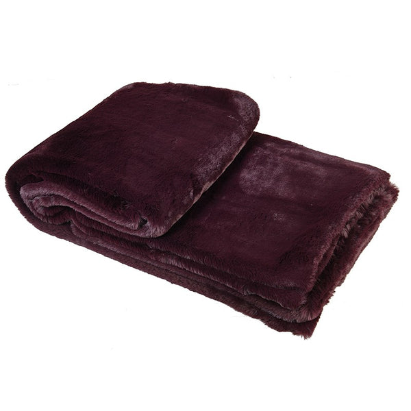 Wine Faur Fur Throw AYH065