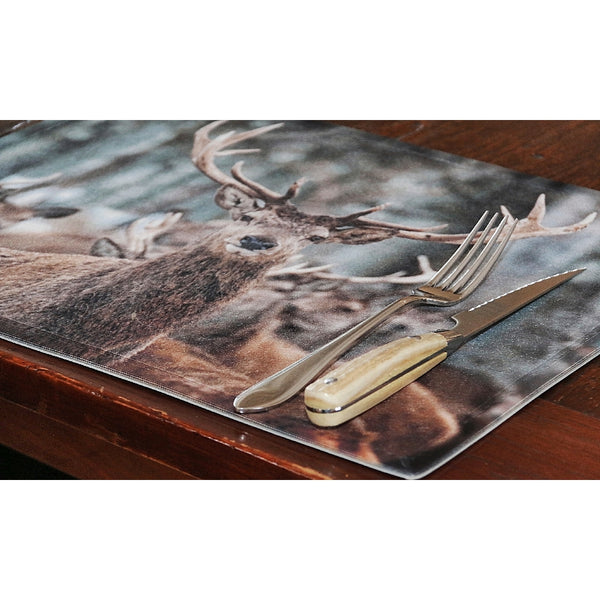 Winter Deer Placemat on table
