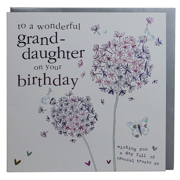Wonderful Grand-daughter On Your Birthday FB114