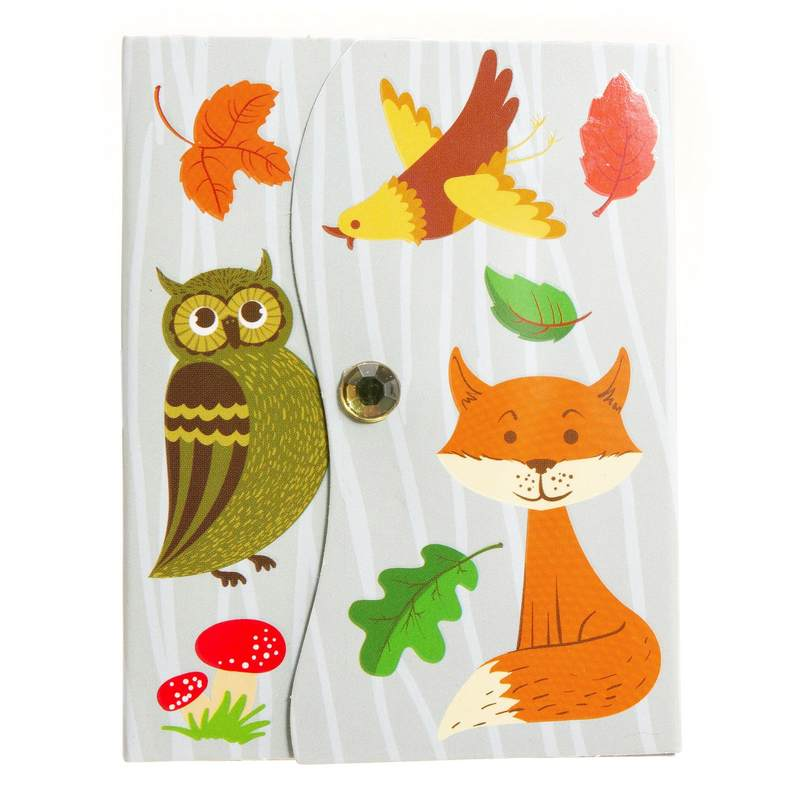 Woodland Mini Magnetic Notepad 402274 fox & bird
