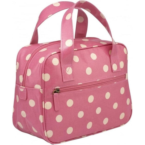 ath Kidston Small Boxy Bag Button Spot Vintage Pink 594707 back