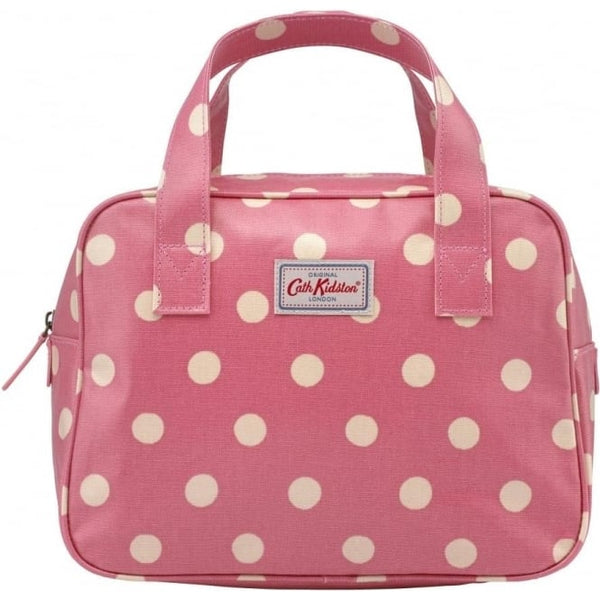 ath Kidston Small Boxy Bag Button Spot Vintage Pink 594707 front