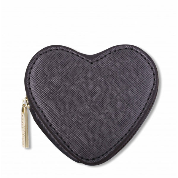 The Heart Coin Purse - Black