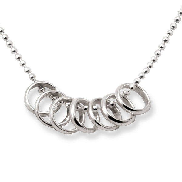 Lucky Seven Rings Necklace