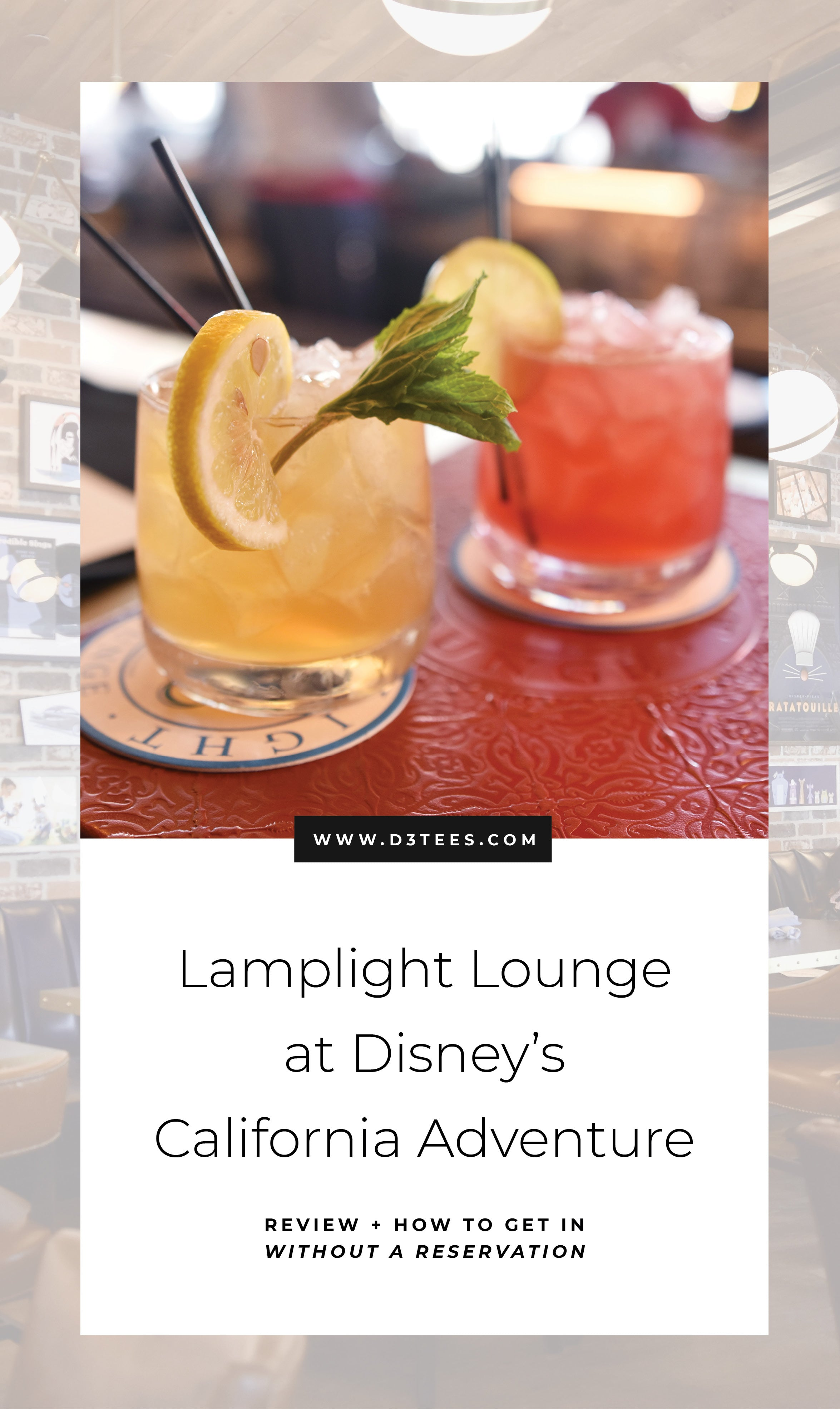 Lamplight Lounge Review from D3tees.com | Disneyland Planning | Disneyland Vacation | Disney Tips