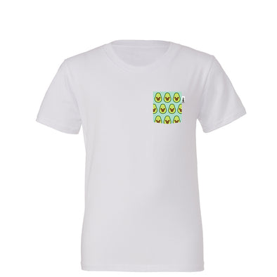 Avocado Mouse Youth Tee, White