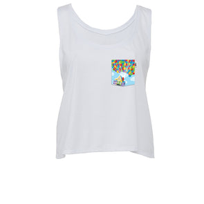 Adventure Crop Tank, White