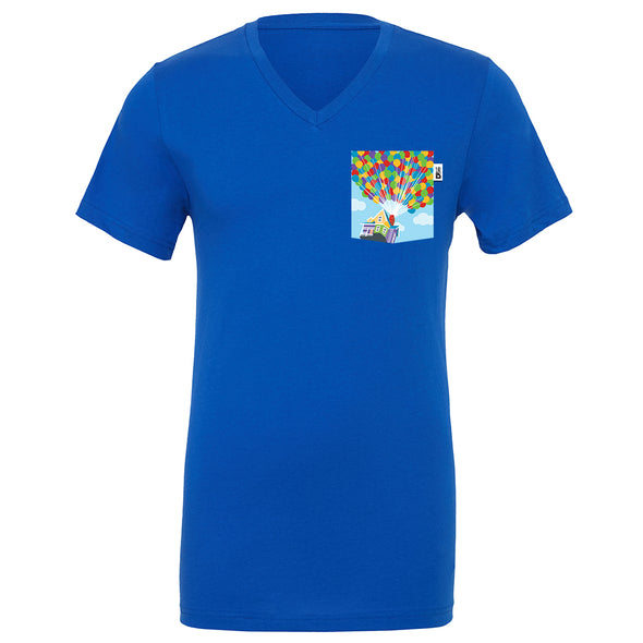 Adventure V-Neck Tee, True Royal