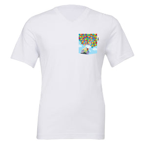 Adventure V-Neck Tee, White