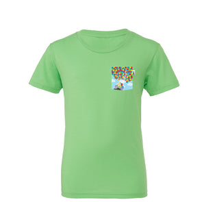 Adventure Youth Tee, Neon Green