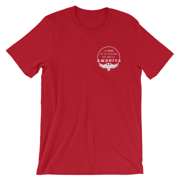Mostly America Crew Neck Tee, Red