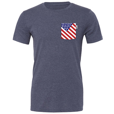 American Mouse Crew Tee, Heather Navy