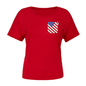 American Mouse Slouchy Scoop Tee, Red