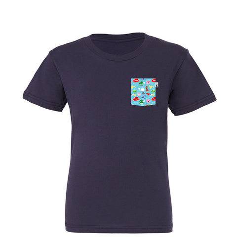 Andy Youth Tee, Navy