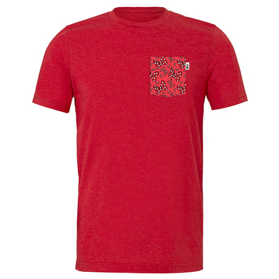 Bowtiful Crew Tee, Heather Red