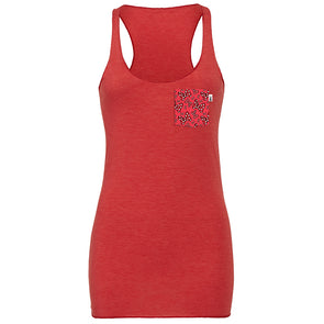 Bowtiful Racerback Tank, Heather Red