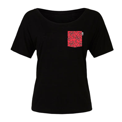 Bowtiful Slouchy Scoop Tee, Black