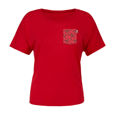 Bowtiful Slouchy Scoop Tee, Red