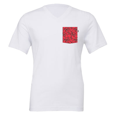 Bowtiful V-Neck Tee, White