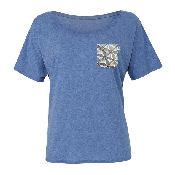 Classic SSE Slouchy Scoop Tee, Heather Blue