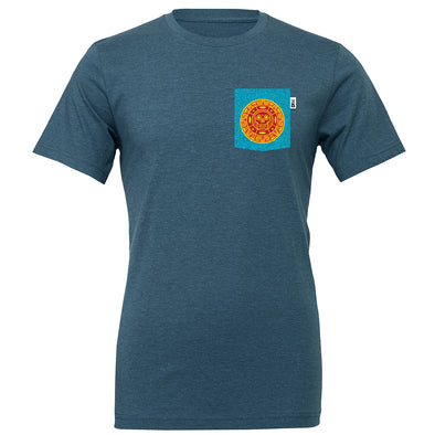 Cursed Treasure Crew Tee, Heather Deep Teal
