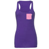 Daisy Bows Racerback Tank, Heather Purple