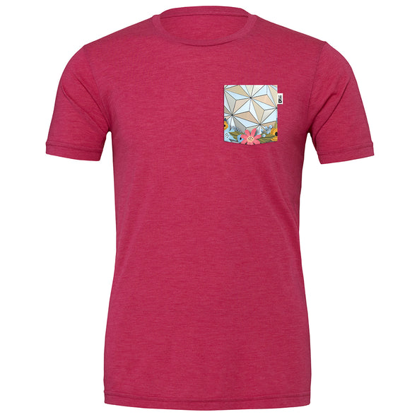 Flower & Garden Crew Tee, Heather Raspberry