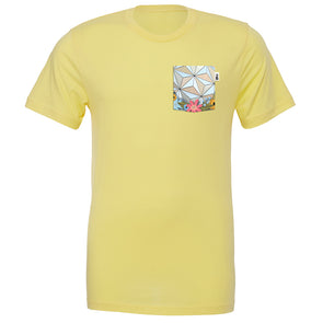 Flower & Garden SSE Crew Tee, Heather Yellow