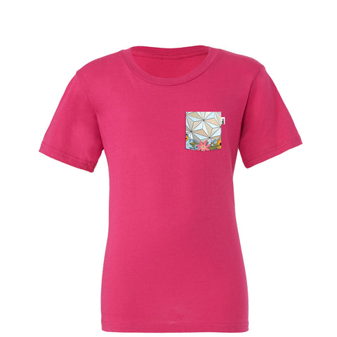 Flower & Garden SSE Youth Tee, Berry