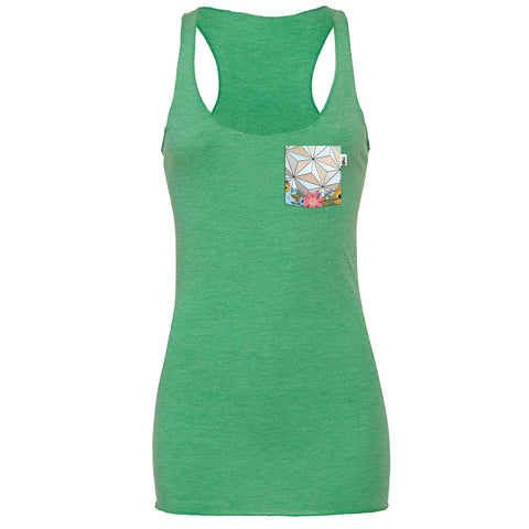 Flower & Garden SSE Racerback Tank, Heather Green