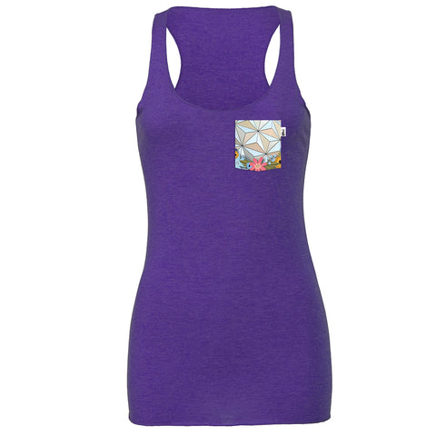 Flower & Garden SSE Racerback Tank, Heather Purple